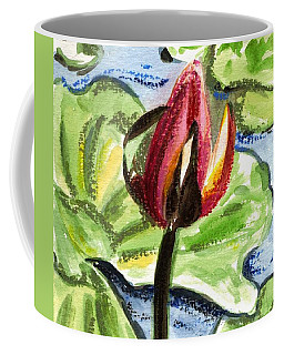 Coffee Mug featuring the painting A Birth Of A Life by Harsh Malik