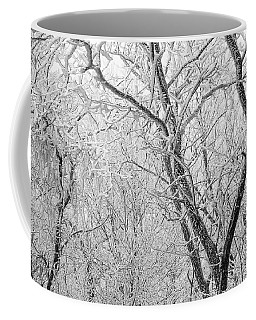 A Black And White Winter Coffee Mug by Mike Eingle