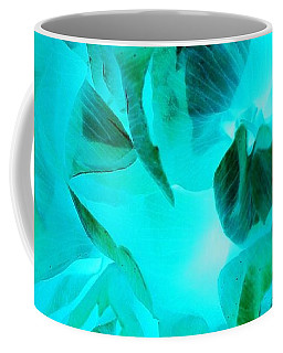 A Bloom In Turquoise Coffee Mug
