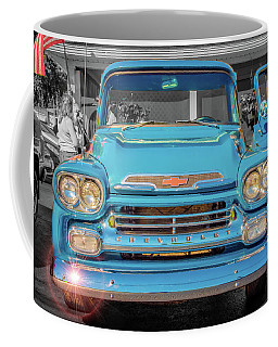 A Blue Chevy In The Sun Coffee Mug by Guy Whiteley
