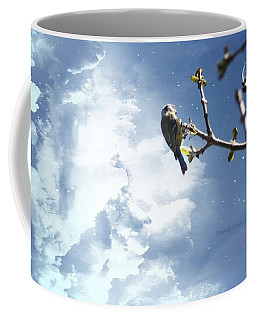 A Blue Tit. Coffee Mug by Eskemida Pictures