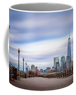 A Boardwalk In The City Coffee Mug by Eduard Moldoveanu