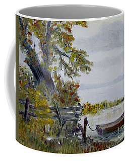 A Boat Waiting Coffee Mug