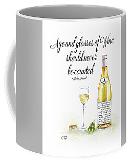A Bottle Of White Wine Coffee Mug by Colleen Taylor