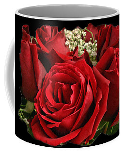Coffee Mug featuring the photograph A Bouquet Of Red Roses by Sue Melvin