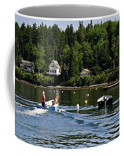 A Boy And His Dog, Tenants Harbor, Maine #30736 Coffee Mug