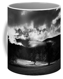 A Break In The Clouds In Black And White Coffee Mug