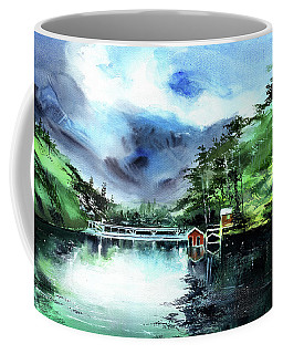 Coffee Mug featuring the painting A Bridge Not Too Far by Anil Nene