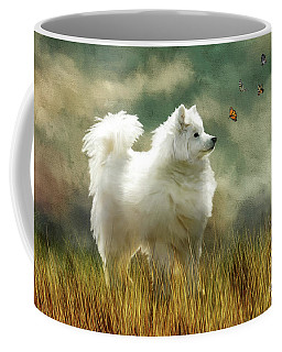 Coffee Mug featuring the digital art A Brief Encounter by Lois Bryan