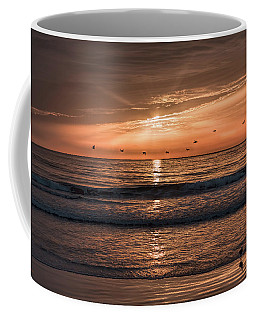 Coffee Mug featuring the photograph A Burnished Sunrise by John M Bailey