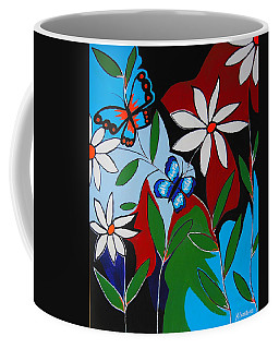 Coffee Mug featuring the painting A Butterflies Paradise by Kathleen Sartoris