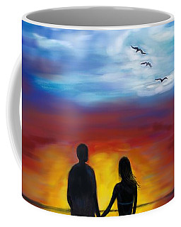 Coffee Mug featuring the painting A Captivating Love by Leslie Allen