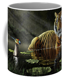 Coffee Mug featuring the digital art A Chance Encounter by Don Olea