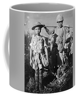 Coffee Mug featuring the painting A Chinese Nationalist Soldier by Artistic Panda