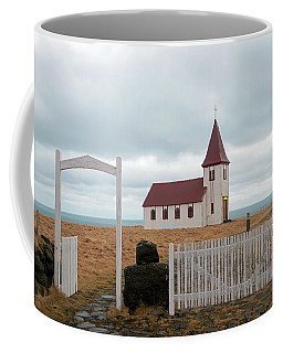 Coffee Mug featuring the photograph A Church With No Fence by Dubi Roman