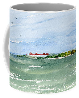 Coffee Mug featuring the painting A Clear Day At Cape May Point  by Nancy Patterson