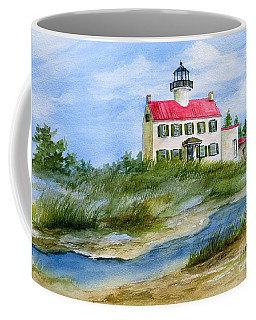 A Clear Day At East Point Lighthouse Coffee Mug by Nancy Patterson