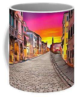 A Cobblestone Street In Venice Coffee Mug