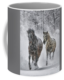 A Cold Winter's Run Coffee Mug