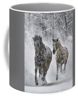 Coffee Mug featuring the photograph A Cold Winter's Run by Wade Aiken