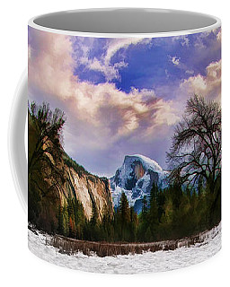A Cold Yosemite Half Dome Morning Coffee Mug