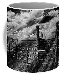 A Colorado Landscape In Black And White  Coffee Mug