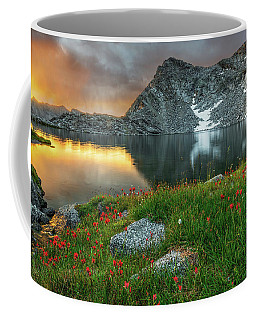 A Colorful Mountain Morning Coffee Mug by Leland D Howard