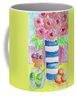 Coffee Mug featuring the painting Fruit Salad by Rosemary Aubut