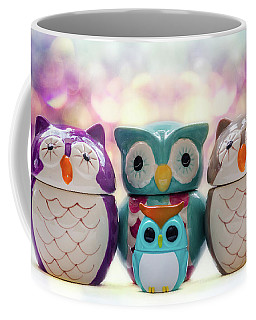 A Colourful Parliament Of Owls Coffee Mug by Martina Fagan