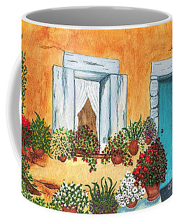 A Cottage In The Village Coffee Mug by Patricia Griffin Brett
