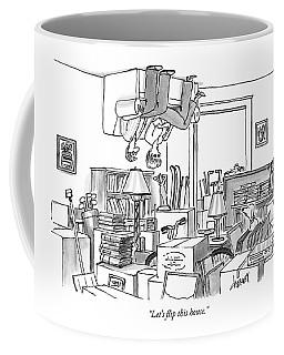 A Couple Sits On An Upside Down Sofa Coffee Mug
