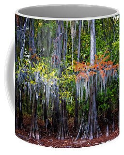 Coffee Mug featuring the digital art A Cypress Fall by Lana Trussell