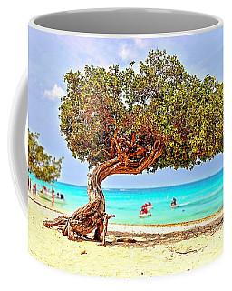 Coffee Mug featuring the photograph A Day At Eagle Beach by DJ Florek