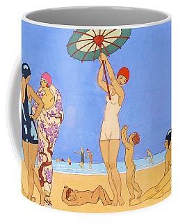 A Day At The Beach, 1923 Coffee Mug