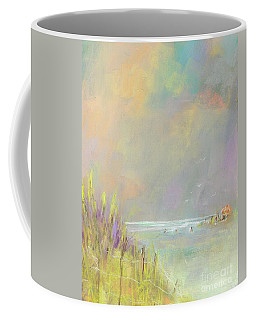 Coffee Mug featuring the painting A Day At The Beach by Frances Marino