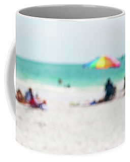 Coffee Mug featuring the photograph a day at the beach IV by Hannes Cmarits