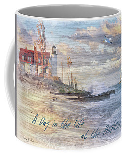A Day In The Life At The Beach Coffee Mug by Nina Bradica