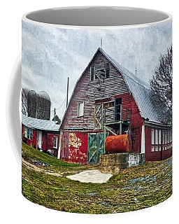 A Distressed Old Barn  Coffee Mug