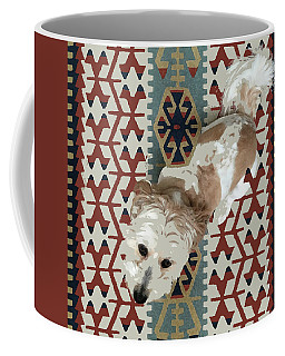 A Dog In On A Rug Coffee Mug