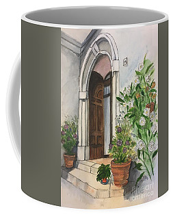 A Door In Castellucco, Italy Coffee Mug
