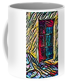 A Door On The Rocky Path Coffee Mug