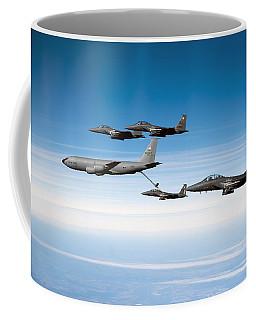 A F-15e Strike Eagle Is Refueled Coffee Mug