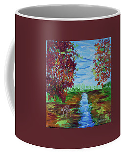 A Fall Day Coffee Mug by Donna Brown