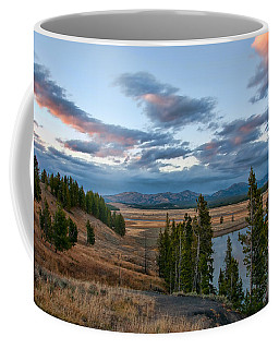 A Fall Evening In Hayden Valley Coffee Mug by Steve Stuller