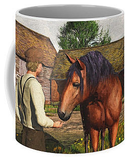A Farmer And His Horse Coffee Mug