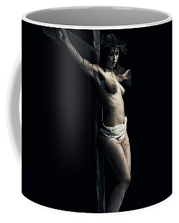 A Female Crucifix Coffee Mug