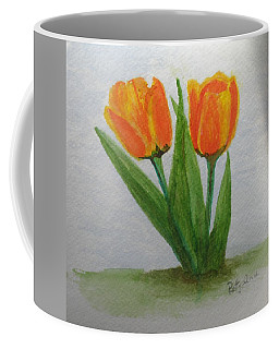 Coffee Mug featuring the painting A Fine Pair by Betty-Anne McDonald