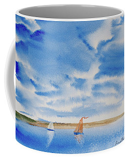 A Fine Sailing Breeze On The River Derwent Coffee Mug