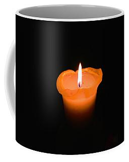 A Flame In The Dark Coffee Mug by David Warrington