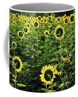 A Flock Of Blooming Sunflowers Coffee Mug